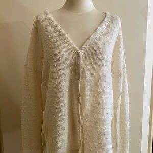 AltardState Oversized Cardigan w/Lace Detail sizeS